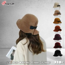 The hat LADY velvet bow tie shape rear