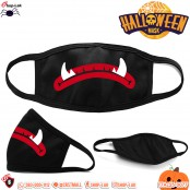 Thick Curved Halloween Gag, Devil Pattern Mouth Fashion Gag, Halloween Mask No.F7Ac25-0073