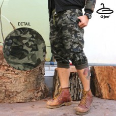 Trousers 3 pieces green military camouflage button Slim Fit Dress with Straps, Straightening, Elastic Waist, Tie 158, Freesize No.F5Cp36-0001