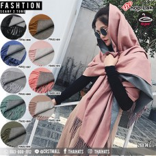 "Double sided cotton scarf ""26.5x74""  scarf have 9 colors No:F5Ac52-0006"