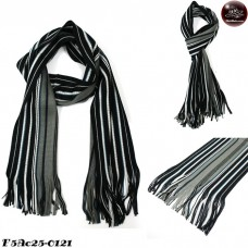 Scarf Scarf Striped Scarf Men's Scarf Yarn Scarf / Dark Gray / Black No. F5Ac25-0121