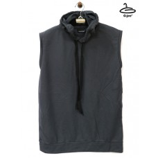 Men's sleeveless shirt with gray hood Fabric is soft and lightweight, Freesize No.F1Cs01-0499