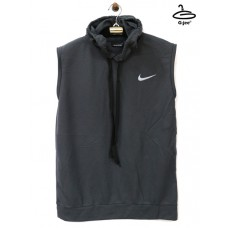 Men's sleeveless shirt with nike gray hoodie, lightweight, soft texture. Freesize No.F1Cs01-0568