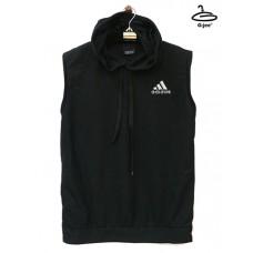 Sleeveless shirt with black adidas hood black
