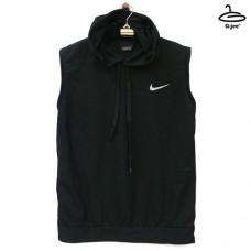 Men's sleeveless shirt with black nike hood, lightweight material
