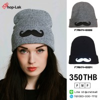 Fashion hat Knitted beard hat with 2 colors No. F7Ah14-0004